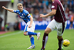 Hearts v St Johnstone...02.08.15   SPFL Tynecastle, Edinburgh<br /> David Wotherspoon flicks the ball past Igor Rossi<br /> Picture by Graeme Hart.<br /> Copyright Perthshire Picture Agency<br /> Tel: 01738 623350  Mobile: 07990 594431