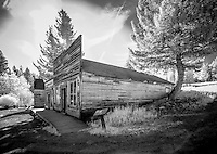 Davey's Mercantile at Garnet Ghost Town near Missoula Montana is one of Mantana's best preserved ghost towns.  Garnet was a thriving gold mining town about a hundred years ago.  Today there are approximately 30 buildings which look today much like they did in 1895.
