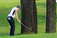 Matt Wallace (ENG) plays left handed during the third round of the Volvo China Open played at Topwin Golf and Country Club, Huairou, Beijing, China 26-29 April 2018.<br /> 28/04/2018.<br /> Picture: Golffile | Phil Inglis<br /> <br /> <br /> All photo usage must carry mandatory copyright credit (&copy; Golffile | Phil Inglis)