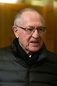 Defense Attorney Alan Dershowitz departs the United States Capitol after delivering opening statements in the impeachment trial of United States President Donald J. Trump in Washington D.C., U.S., on Monday, January 27, 2020.<br />  <br /> Credit: Stefani Reynolds / CNP