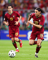 Maniche (18) in action for Portugal. Portugal defeated Mexico 2-1 in their FIFA World Cup Group D match at FIFA World Cup Stadium, Gelsenkirchen, Germany, June 21, 2006.