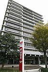 A general view of Japan Post Holdings Co. headquarters on October 29, 2015, Tokyo, Japan. The share price for Japan Post Holdings Co. public offering was set at 1,400 yen (11.58) for its debut on the Tokyo Stock Exchange next November 4. This price was at the high end of expectations and the government hopes that many Japanese citizens will take the opportunity to invest in the company. (Photo by Rodrigo Reyes Marin/AFLO)