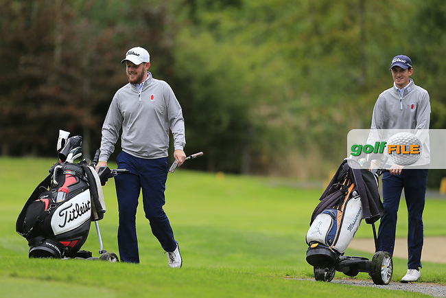 Matthew McClean & Tiernan Mclarnon (Ulster) during final day foursomes at the Interprovincial Championship 2018, Athenry golf club, Galway, Ireland. 31/08/2018.<br /> Picture Fran Caffrey / Golffile.ie<br /> <br /> All photo usage must carry mandatory copyright credit (© Golffile | Fran Caffrey)
