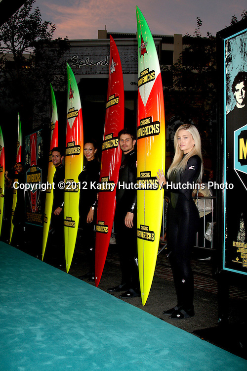 "LOS ANGELES - OCT 18:  Surfboard Atmosphere at  the ""Chasing Mavericks"" Screening at Pacific's The Grove Stadium 14 Theaters on October 18, 2012 in Los Angeles, CA"