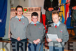 WW1 Remembrance Day: Greg Horan, Tarbert Comprenshive School reading out the names of the soldiers from the Trabert are who died in the first worls war at the remembrance day event at St. John's Arts Centre in Listowel on Sunday last.