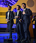 CORAL GABLES, FL - APRIL 24: Piero Barone, Gianluca Ginoble and Ignazio Boschetto of Il Volo onstage during the 2014 Billboard Latin Music Awards at BankUnited Center on April 24, 2014 in coral Gables, Florida. (Photo by Johnny Louis/jlnphotography.com)