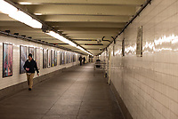 NEW YORK, NY - MARCH 19: A empty subway corredor is seen in New York City on March 19, 2020. The ridership declined 90 percent compared to the same date last year due to the Coronavirus. The World Health Organization declared a global pandemic as the coronavirus rapidly spreads across the world. (Photo by Joana Toro/ VIEWpress via Getty Images)