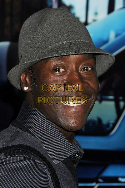 "DON CHEADLE .HBO's ""His Way"" Los Angeles Premiere held at Paramount Studios, Los Angeles, California, USA, 22nd March 2011..portrait headshot grey gray hat smiling .CAP/ADM/BP .©Byron Purvis/AdMedia/Capital Pictues."