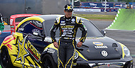 Washington, DC - June 22, 2014: Driver Tanner Foust unveils the new #34 Volkswagen from Andretti Rallycross before the start of the inaugural Red Bull Global Rallycross on the grounds of RFK Stadium in the District of Columbia, June 22, 2014.   (Photo by Don Baxter/Media Images International)