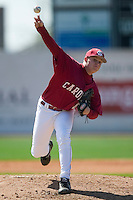 South Carolina starting pitcher Blake Cooper (27) fires the ball to the plate versus LSU at Sarge Frye Stadium in Columbia, SC, Thursday, March 18, 2007.