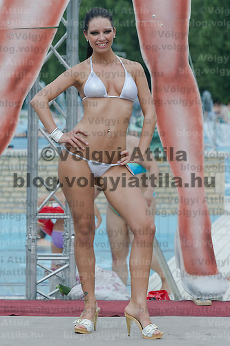 Petra Viktoria Ihasz attends the Miss Bikini Hungary beauty contest held in Budapest, Hungary on August 06, 2011. ATTILA VOLGYI