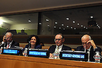NEW YORK, USA - SEPT 23. UN Deputy Secretary-General Jan Eliasson in meeting to make an  agreement with the League of Arab States on Children and Armed Conflict on September. 23.2014 photo by VIEWpress