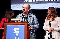 The Netherlands, Amsterdam, 25 November 2011. The Award ceremony International Documentary Film Festival Amsterdam 2011. Mehrdad Oskouei, IDFA DocU Award for 'The Last Days of Winter'. Photo: 31pictures.nl / (c) 2011, www.31pictures.nl