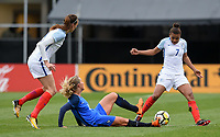 Columbus, Ohio - Thursday March 01, 2018: England, France during a 2018 SheBelieves Cup match between the women's national teams of the England (ENG) and France (FRA) at MAPFRE Stadium.