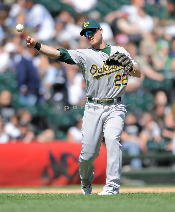 JACK HANNAHAN,of the Oakland A's, during the A's game against the Chicago White Sox  on June 4, 2009 in Chicago, IL.  The A's beat  the White Sox 7-0.