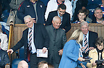 Walter Smith takes his seat in the directors box