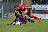 O's Jamie Turley & Ayo Obileye during Leyton Orient vs Maidenhead United, Vanarama National League Football at The Breyer Group Stadium on 16th February 2019
