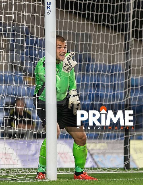 Goalkeeper Robert Olejnik of Exeter City during the The Checkatrade Trophy match between Oxford United and Exeter City at the Kassam Stadium, Oxford, England on 30 August 2016. Photo by Andy Rowland / PRiME Media Images.