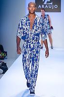 Model walks runway at A.Z Araujo Swimwear Show during Mercedes Benz IMG Fashion Swim Week 2014 at The Raleigh Hotel, Miami Beach, FL on July 21, 2013