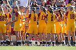 Los Angeles, CA 02/09/13 - The USC Women Lacrosse team readies for their opening game against Northwestern.