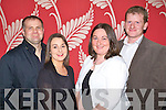 Pictured at the Comhaltas Ceoltoiri Eireann social at the Ballyroe hieghts hotel on Friday night were Simon and Pauline Loughnane, Castlemaine Jerry and Catherine Flemming, Milltown.