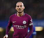 David Silva of Manchester City during the premier league match at the Stamford Bridge stadium, London. Picture date 30th September 2017. Picture credit should read: Robin Parker/Sportimage