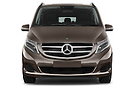 Car photography straight front view of a 2015 Mercedes Benz V-CLASS AVANTGARDE 5 Door Minivan 2WD Front View
