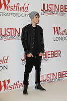 LONDON, NOVEMBER 7, 2011 - Justin Bieber switching on Christmas Lights at Westfield London - Photocall