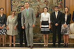Spanish Royals King Felipe VI of Spain and Queen Letizia of Spain during a Royal meeting with ONCE General Council at Zarzuela Palace in Madrid, Spain. September 02, 2015. (ALTERPHOTOS/Victor Blanco)