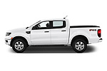 Car driver side profile view of a 2019 Ford Ranger XLT 4 Door Pick Up