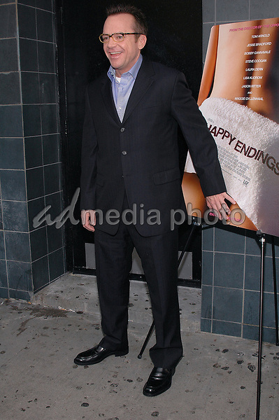 12 July 2005 - New York, New York - Tom Arnold arrives at the premier of his new film, &quot;Happy Endings&quot; at the Chelsea Clearview Theater in Manhattan.<br />Photo Credit: Patti Ouderkirk/AdMedia