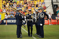US Coast Guard silent drill team during the Women's Professional Soccer (WPS) All-Star Game at KSU Stadium in Kennesaw, GA, on June 30, 2010.