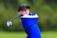 Isaac Oliver (Ballinasloe) on the 1st tee during the Connacht U12, U14, U16, U18 Close Finals 2019 in Mountbellew Golf Club, Mountbellew, Co. Galway on Monday 12th August 2019.<br /> <br /> Picture:  Thos Caffrey / www.golffile.ie<br /> <br /> All photos usage must carry mandatory copyright credit (© Golffile | Thos Caffrey)