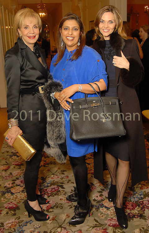 From left: Lisa Holland Nelson, Nidhika Mehta and Gabriela Dror at the Night of Stars Gala honoring Houston's top fashion designers at the Junior League of Houston Tuesday Nov. 03,2009. (Dave Rossman/For the Chronicle)