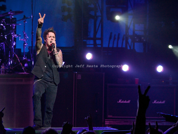 Papa Roach live concert at Nokia Theatre on December 3, 2009 in Grand Prairie, TX.