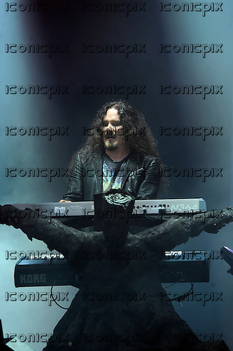 NIGHTWISH - keyboards Tuomas Holopainen - performing live on Day Three on the Lemmy Stage at the Download Festival at Donington Park UK - 12 Jun 2016.  Photo credit: ZAine Lews/IconicPIxi