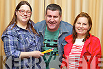 Pictured at the Bon Jovi Tribute Night with Midnite Cafe in the Carlton Hotel on Saturday, from left: Jessica Hilliard (Causeway), Joe Drury (Ballyheigue) and Julie Byrne (Listowel).