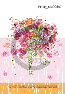 Simonetta, FLOWERS, paintings, ITDPGF0006,#F# Blumen, flores, illustrations, pinturas ,everyday