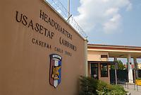 - Camp Ederle US Army base, the main gate....- base US Army di caserma Ederle, l'ingresso principale