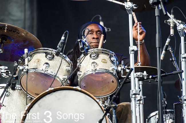 Will Calhoun of Living Colour performs during the 2014 Rock On The Range festival at Columbus Crew Stadium in Columbus, Ohio.
