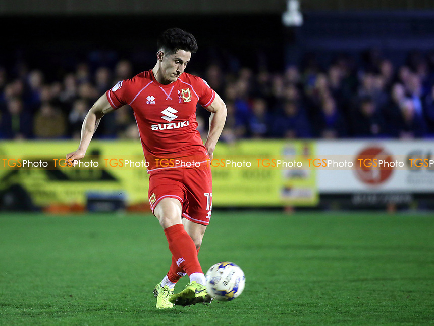 George Williams of MK Dons in action during AFC Wimbledon vs MK Dons, Sky Bet EFL League 1 Football at the Cherry Red Records Stadium on 14th March 2017