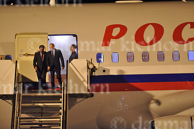 July 07-17,HH Airport, Hamburg,Germany<br /> G20 world leaders arrival at Hamburg Airport.<br /> Russian President Vladimir Putin landed in Hamburg late Thursday night for the G20 summit,welcomed by Vladimir Grinin, Ambassador of the Russian Federation