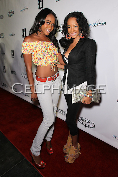 RAQUEL LEE, MERCEDEH ALLEN. Attendees to Souljah Boy Red Carpet Birthday Bash and Performance, sponsored by Swaggmedia.com, at the Highlands. Hollywood, CA, USA. July 28, 2010.