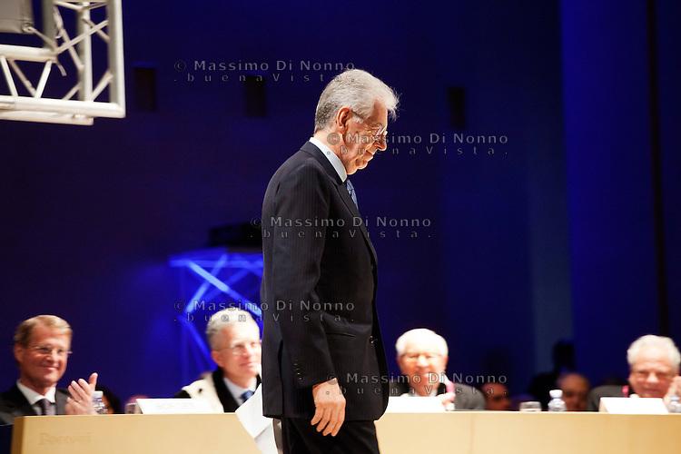 Milano: il Presidente del Consiglio Mario Monti partecipa all'inaugurazione dell'anno accademico dell'Università Bocconi