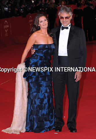 """ANDREA BOCELLI AND VERONICA.at the 4th International Rome Film Festival,  Auditorium Parco della Musica, Rome_17/10/2009.Mandatory Credit Photo: ©NEWSPIX INTERNATIONAL..**ALL FEES PAYABLE TO: """"NEWSPIX INTERNATIONAL""""**..IMMEDIATE CONFIRMATION OF USAGE REQUIRED:.Newspix International, 31 Chinnery Hill, Bishop's Stortford, ENGLAND CM23 3PS.Tel:+441279 324672  ; Fax: +441279656877.Mobile:  07775681153.e-mail: info@newspixinternational.co.uk"""