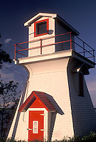 lighthouse, Wallace, NS, Nova Scotia, Canada, Gulf of St. Lawrence, Lighthouse in the fishing village of Wallace on the Northumberland Strait in Nova Scotia.