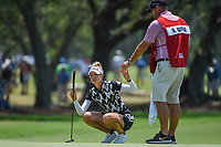 Nelly Korda (USA) prepares to putt on 7 during round 1 of the 2019 US Women's Open, Charleston Country Club, Charleston, South Carolina,  USA. 5/30/2019.<br /> Picture: Golffile | Ken Murray<br /> <br /> All photo usage must carry mandatory copyright credit (© Golffile | Ken Murray)