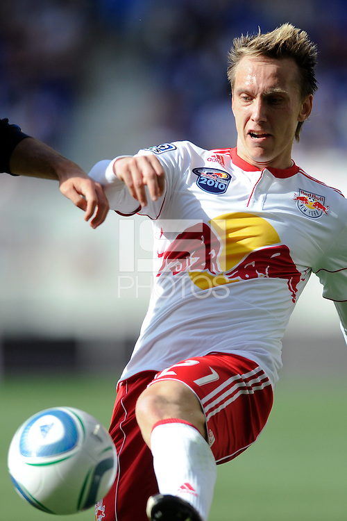 Brian Nielsen (21) of the New York Red Bulls during a Major League Soccer (MLS) match against the Philadelphia Union at Red Bull Arena in Harrison, NJ, on April 24, 2010.