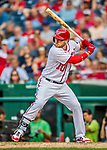 29 June 2017: Washington Nationals infielder Stephen Drew pinch hits in the 9th inning against the Chicago Cubs at Nationals Park in Washington, DC. The Cubs rallied against the Nationals to win 5-4 and split their 4-game series. Mandatory Credit: Ed Wolfstein Photo *** RAW (NEF) Image File Available ***