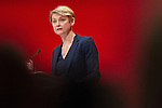 © Joel Goodman - 07973 332324 . 28/09/2016 . Liverpool , UK . YVETTE COOPER speaks during the final day of the Labour Party Conference at the ACC in Liverpool . Photo credit : Joel Goodman